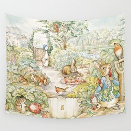 The World Of Beatrix Potter Wall Tapestry