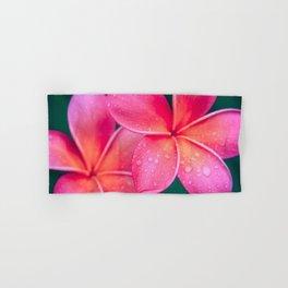 Aloha Hawaii Kalama O Nei Pink Tropical Plumeria Hand & Bath Towel