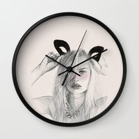 catwoman Wall Clocks featuring Catwoman  by Aeriz85