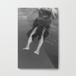 Legs in water Metal Print
