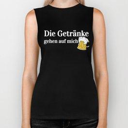 Drinks on Me Funny Oktoberfest German Beer Biker Tank