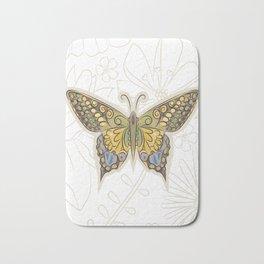 Antique Butterfly Bath Mat