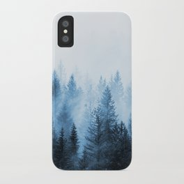 Misty Winter Forest iPhone Case