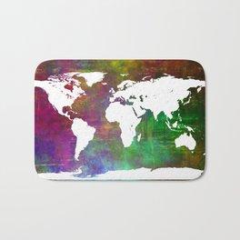 WORLD MAP #society6 Bath Mat