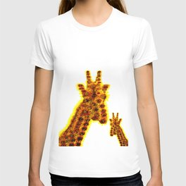 sunflowers mom giraffe T-shirt