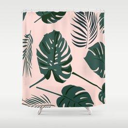 Tropical palm Shower Curtain