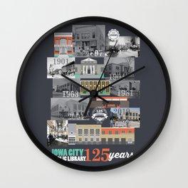 Iowa City Public Library 125 years Wall Clock