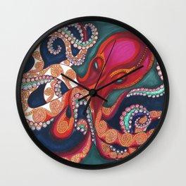 Octavia The Kraken Wall Clock