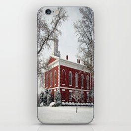Side View of the Iron County Courthouse iPhone Skin