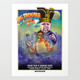 Big Trouble in the Little Apple - TTU vs KSU 10.8.16 Art Print