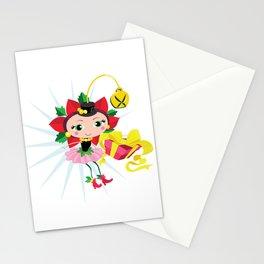 Holiday Poinsettia Fairy Stationery Cards