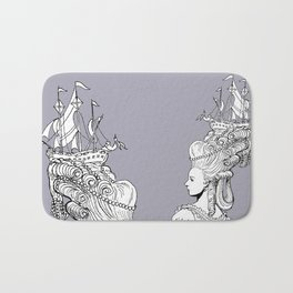 Girl With Ship Bath Mat