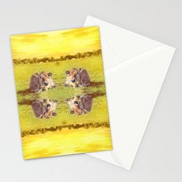 Yellow Haze Quadruple Daze Stationery Cards