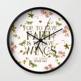 Peter Pan Faith Wall Clock