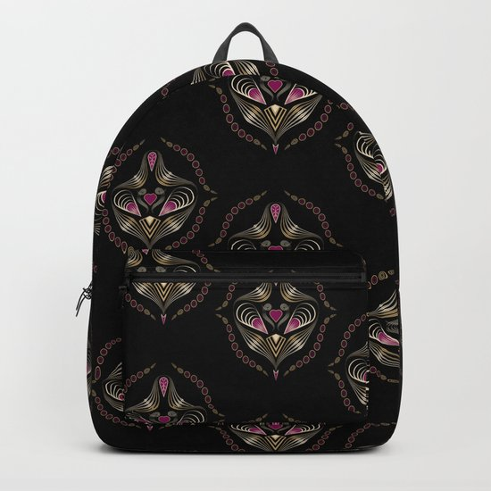 "Art deco print ""Jumil"" Backpack"