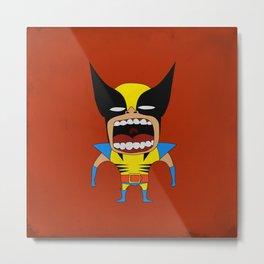 Screaming Wolverine Metal Print