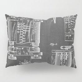 First Computer Patent - Technology Art - Black Chalkboard Pillow Sham