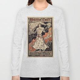 Sarah Bernhardt as Joan of Arc vintage theatre ad Long Sleeve T-shirt