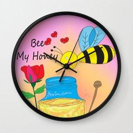 Bee My Honey Wall Clock