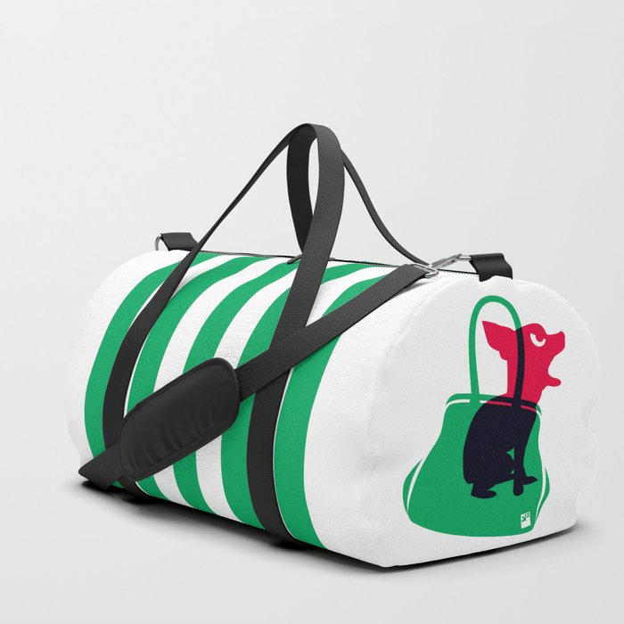 Angry animals: chihuahua - little green bag Duffle Bag