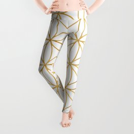 Flower Of Life, Mother Of The Tree Of Life And The Metatron's Cube Leggings