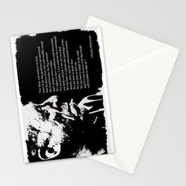 Charles BUKOWSKI - faith quote Stationery Cards