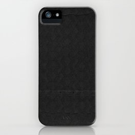 black pattern iPhone Case