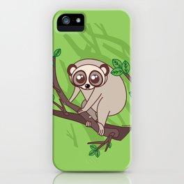 Kawaii loris iPhone Case