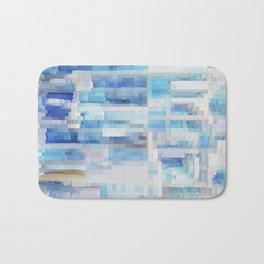 Abstract blue pattern 2 Bath Mat