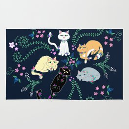 Garden Kitties Rug
