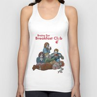 the breakfast club Tank Tops featuring Brains for Breakfast Club (white) by Ayota Illustration