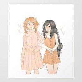 Uraraka and Tsuyu Art Print