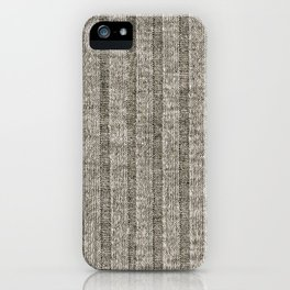 Soft Brown Jersey Knit Pattern iPhone Case
