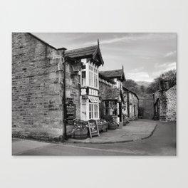 The Pub   B&W Canvas Print
