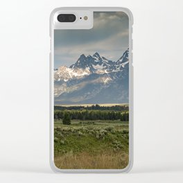 Grand Teton National Park Mountain Range Clear iPhone Case