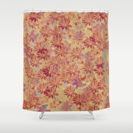 Gazania Maroon Shower Curtain