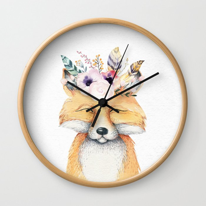 Forest Fox by Nature Magick Wall Clock