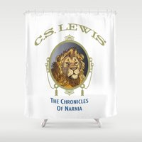 narnia Shower Curtains featuring The Chronicles of Narnia by Quigley Down Under