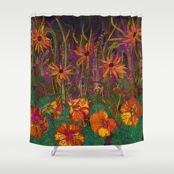 You Can Get By (Autumn Flowers) Shower Curtain