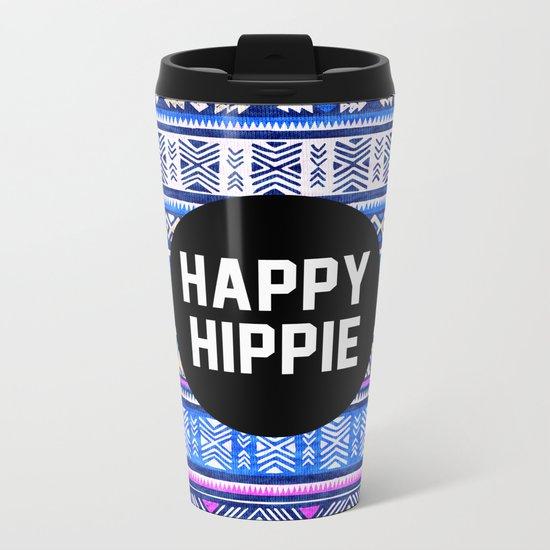 Happy hippie Metal Travel Mug