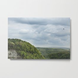 Soaring Through The Storm - Letchworth Park Metal Print