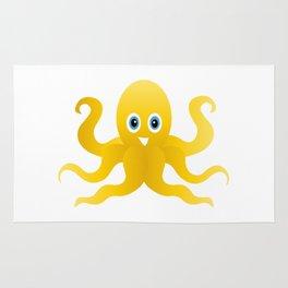Fun yellow octopi Rug
