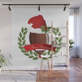 Football Christmas Design Wall Mural