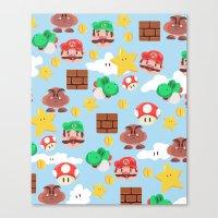 super mario Canvas Prints featuring Super Mario by Clef