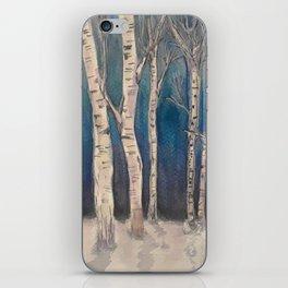 Birch Grove At Midnight iPhone Skin