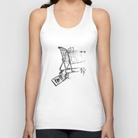shopping Tank Tops featuring Shopping Cart by Brontosaurus