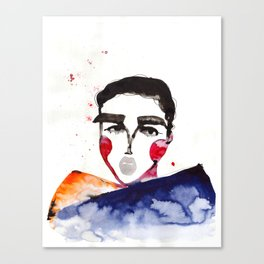 Ula in a Heavy Scarf Canvas Print