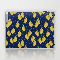 Lemons minimal triangles fruit citrus lemon pattern by andrea lauren Laptop & iPad Skin