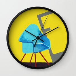 E is for Eames Chair Wall Clock