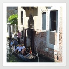 To Venice with Love Art Print